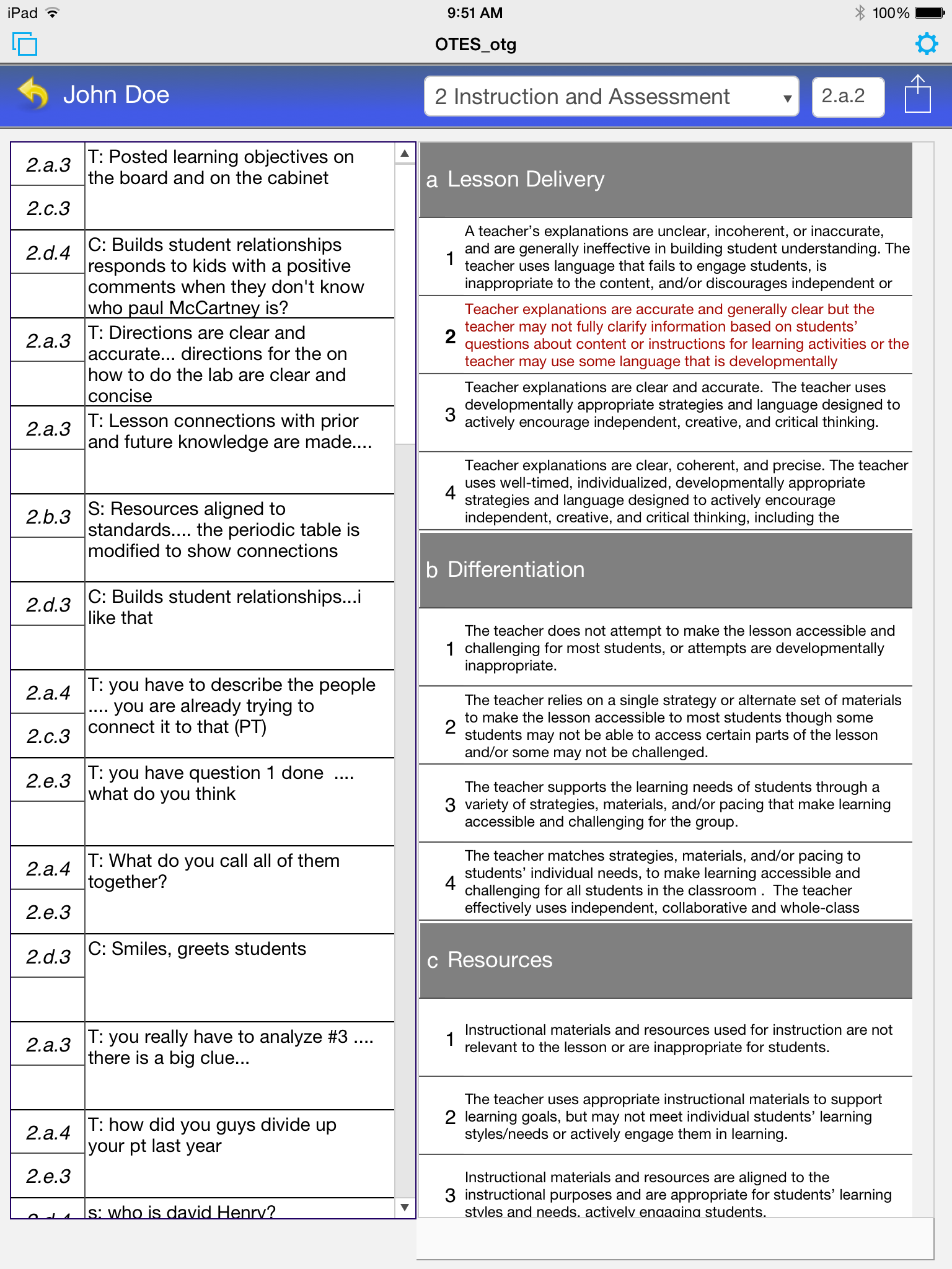 U2022Create Custom Walkthrough Forms U2022Create Yearly Reports Or Date Range  Reports U2022Auto Complete The Teacher Performance Evaluation Rubric